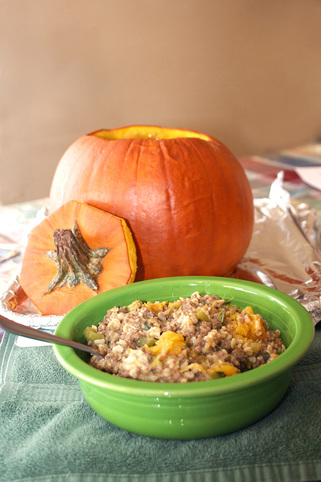 Dinner in a Pumpkin - Author Melanie D. Snitker